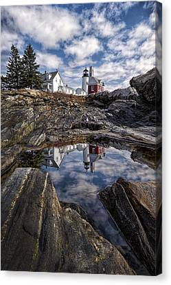 Canvas Print featuring the photograph Pemaquid Reflected by Jaki Miller