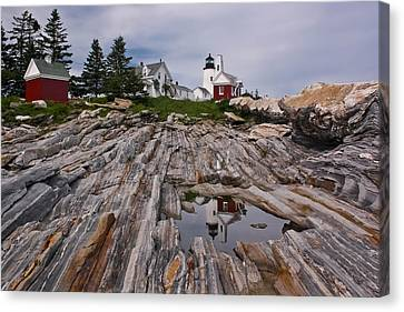 Rocky Maine Coast Canvas Print - Pemaquid Reflections by M S McKenzie