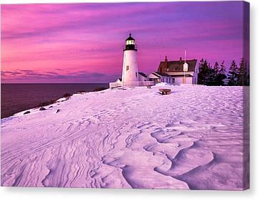 Pemaquid Winter Sunrise Canvas Print by Benjamin Williamson