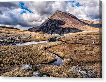 Cwm Idwal Canvas Print - Pen Yr Ole Wen Mountain by Adrian Evans