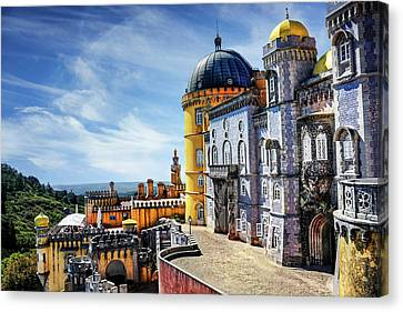 Pena Palace In Sintra Portugal  Canvas Print by Carol Japp