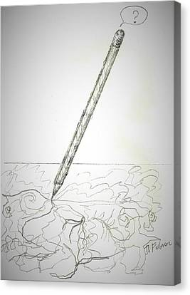 Canvas Print featuring the drawing Pencil Drawing by Denise Fulmer