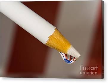 Pencil Flag Drop Canvas Print