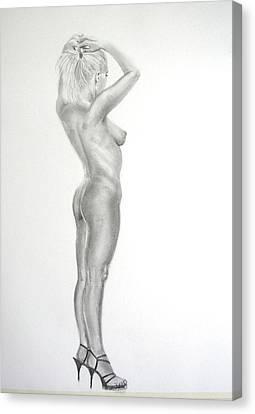 Pencil Nude 16 Canvas Print