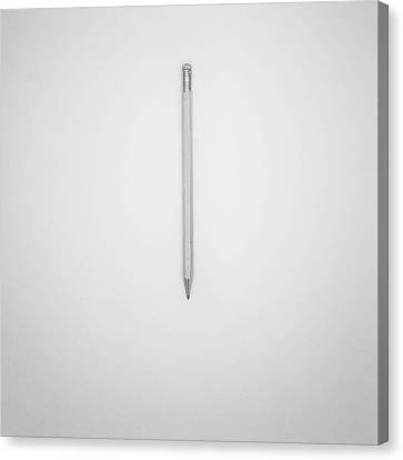 Pencil On A Blank Page Canvas Print