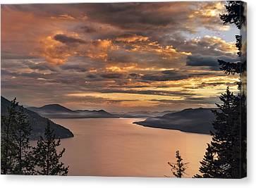 Pend Oreille Sunrise Canvas Print