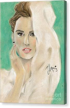 Penelope Cruz Canvas Print by P J Lewis