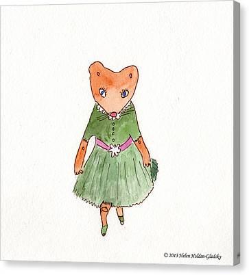 Penelope Curtsies Canvas Print