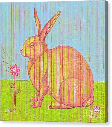 Penelope The Rabbit At Snickerhaus Garden Canvas Print by Christine Belt