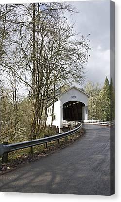 Pengra Covered Bridge Canvas Print by John Higby