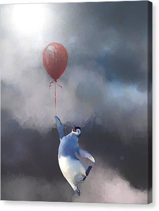 Penguin Escape Canvas Print by Dan Sproul