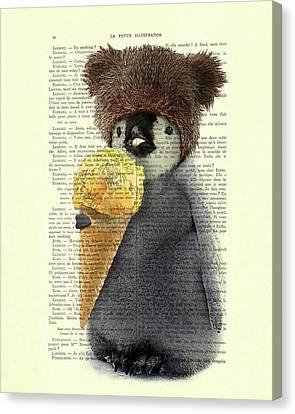 Penguin Ice Cream Canvas Print