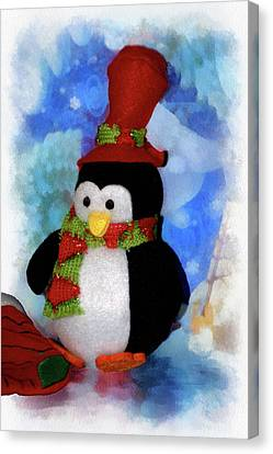 Penguin Pa 03 Canvas Print by Thomas Woolworth