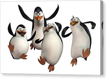 Penguin Canvas Print - Penguins Of Madagascar 2 by Movie Poster Prints