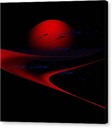 Penman Original-347 Cosmic Curve Canvas Print by Andrew Penman