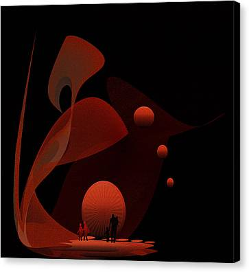 Penman Original-451 Out Of The Rat Race Into A Space Of Wellbeing Canvas Print by Andrew Penman