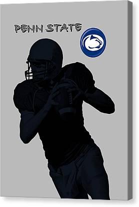 Canvas Print featuring the digital art Penn State Football by David Dehner