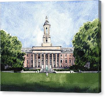 Penn State Old Main Alma Mater State College Canvas Print by Laura Row