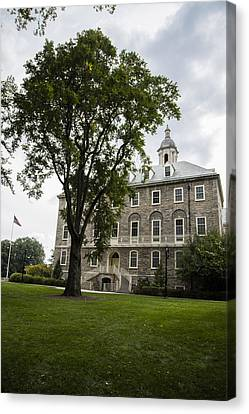 Penn State Old Main From Side  Canvas Print by John McGraw