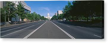 Pennsylvania Avenue, Washington Dc Canvas Print by Panoramic Images