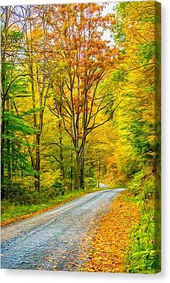 Pennsylvania Back Road - Paint Canvas Print by Steve Harrington