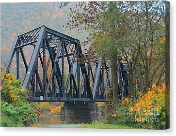 Pennsylvania Bridge Canvas Print by Cindy Manero