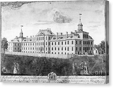 Colonial Man Canvas Print - Pennsylvania Hospital, 1755 by Granger