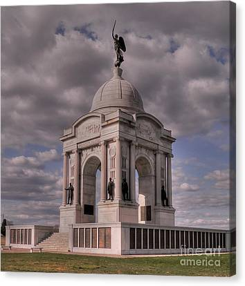 Pennsylvania Memorial At Gettysburg Canvas Print