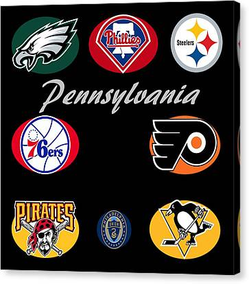 Pennsylvania Professional Sport Teams Collage  Canvas Print