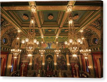 Pennsylvania Senate Chamber Canvas Print by Shelley Neff