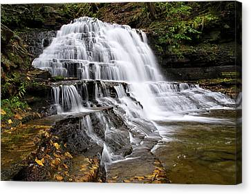 Canvas Print featuring the photograph Pennsylvania Waterfall by Christina Rollo