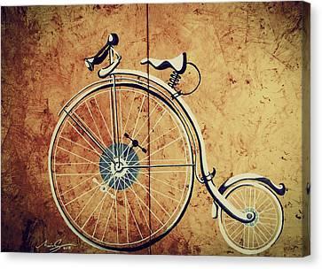 Penny Farthing Bike Canvas Print