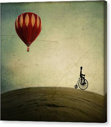 Penny Farthing For Your Thoughts Canvas Print by Irene Suchocki