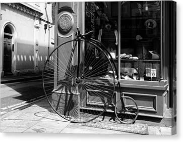 Penny Farthing In London Canvas Print by Georgia Fowler