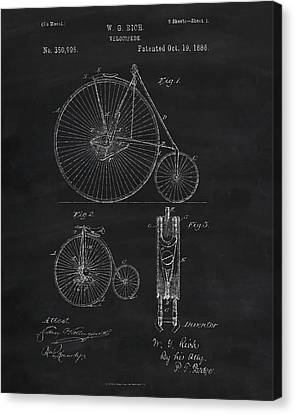 Penny Farthing Patent Art Canvas Print