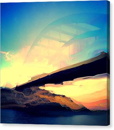 Pennybacker Bridge Canvas Print by Christy LaSalle