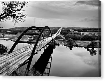 Canvas Print featuring the photograph Pennybacker Bridge by John Maffei