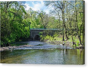 Canvas Print featuring the photograph Pennypack Creek Bridge Built 1697 by Bill Cannon
