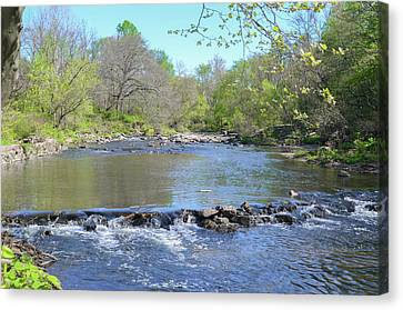 Canvas Print featuring the photograph Pennypack Creek - Philadelphia by Bill Cannon