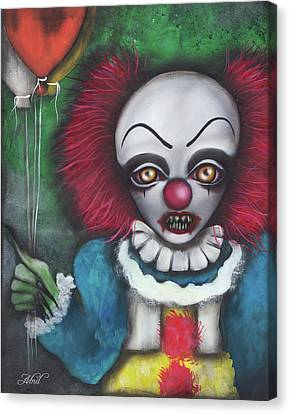 Pennywise Canvas Print by Abril Andrade Griffith