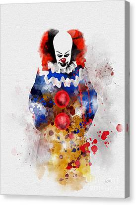 Tim Canvas Print - Pennywise by Rebecca Jenkins