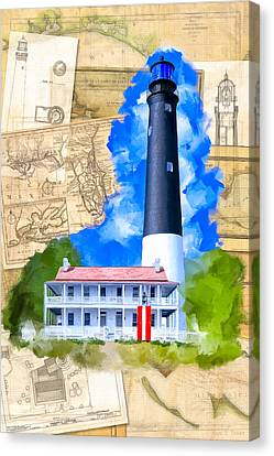 Pensacola Lighthouse - Florida Nostalgia Canvas Print