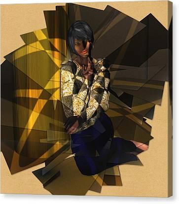 Pensive Woman Canvas Print