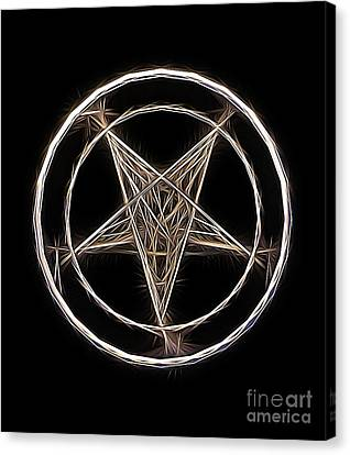 Pentagram Symbol By Raphael Terra Canvas Print by Raphael Terra