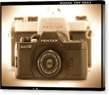Classic Camera Canvas Print - Pentax 110 Auto by Mike McGlothlen