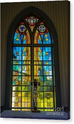 Pentecost Window Canvas Print by Roberta Bragan
