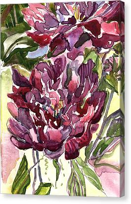 Peonies Canvas Print by Mindy Newman