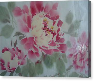 Peony 4 Canvas Print by Dongling Sun