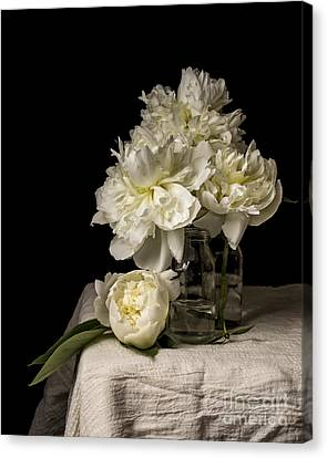 Peony Flowers Canvas Print by Edward Fielding