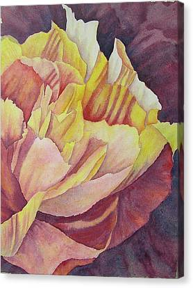 Peony Pattern Canvas Print by Carolyn Rosenberger